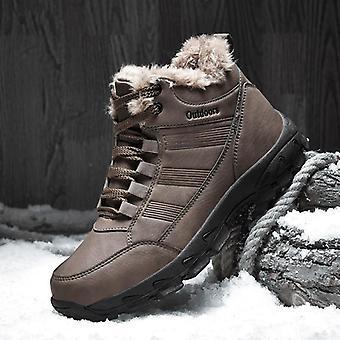 Enkel sneeuwlaarzen Winter bont warm leer Outdoor Waterdicht groot formaat schoenen