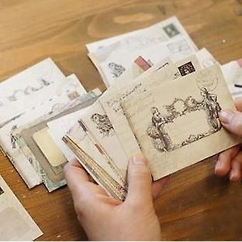 Envelopes vintage mini kraft janela de papel