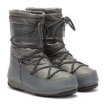 Moon Boot Nylon Mid Womens Grey Boots