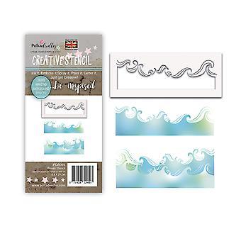 Polkadoodles Waves Stencil