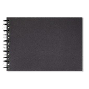 Artgecko stijlvol schetsboek - 80 pagina's (40 vellen) 150gsm zuurvrij wit cartridgepapier (a4 landsca