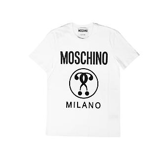 Moschino A070620401001 Mænd's White Cotton T-shirt