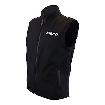 Bike It Softshell Gilet Black Adult