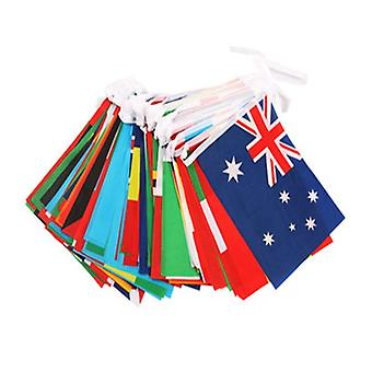 String Hanging Football Soccer 32 Team National Flag  (1 Set 20 Faces)