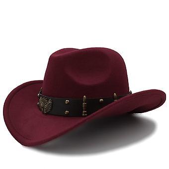 Wool Western Cowboy Hat/gentleman Jazz Cap And Elegant Lady Cowgirl Hats Size