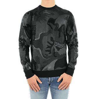 Alexander McQueen Crew Neck Skull Wool&Viscose Black 651185Q1XAZ1204 Haut