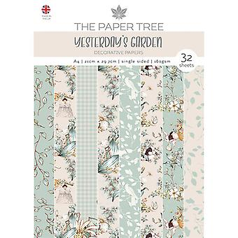 The Paper Tree - Yesterdays Garden Collection - A4 Backing Papers