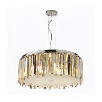 Cromo Suspensión 5 Clarissa Bulbos Transparente