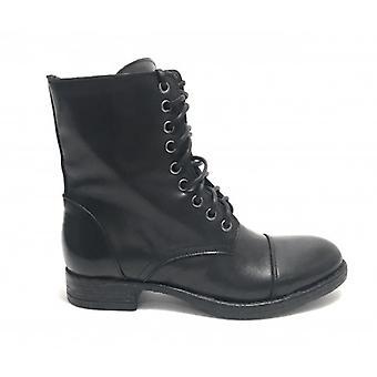 Women's Shoes Amphibious Life In Calfskin Black Nappato D20li01