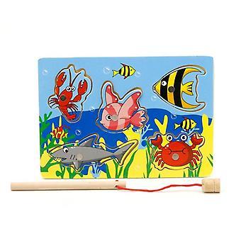 Jogo de pesca infantil Jogo de Madeira Oceano Jigsaw Board