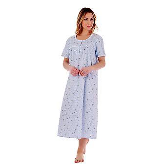 Slenderella ND77262 Women's Floral Cotton Nightdress