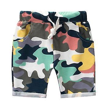 Letné kamuflážne šortky bavlnené nohavice Detské plážové oblečenie Loose Sport Beach