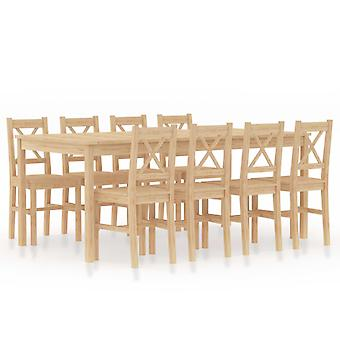 9 Piece Dining Set Pinewood