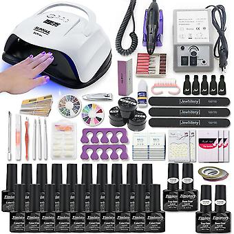 Super Manicure Set For Nail Kit With Led Nail Lamp