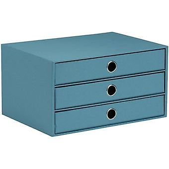 Rssler 1524452153 - S.O.H.O. 3er Schubladenbox fr DIN A4, mit Griffloch, Denim