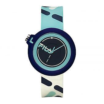 FILA 38-6081-001 Gemengde Horloges - Blauwe Siliconen Armband