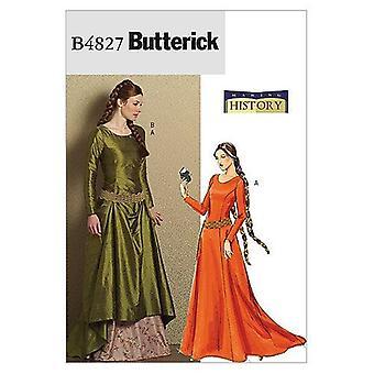 Butterick Syning Mønster 4827 Misser Medieval Dress &Belt Størrelse 6-12 AA