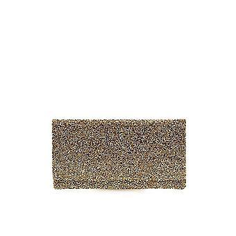 Twenty Fourhaitch Ely Cristal Golden Microstrass Clutch Bag