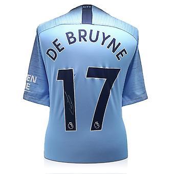 Kevin De Bruyne signerte Manchester City 2018-19 Skjorte