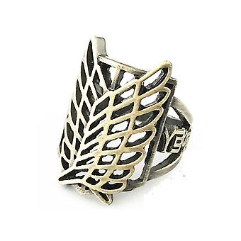 Attaque sur Titan Anime Ring Cartoon Collection Alloy Finger Ring Golden