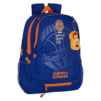 School Bag Valencia Basket Blue Orange