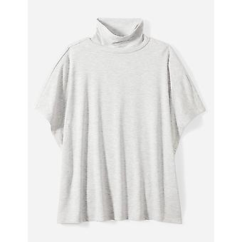 Marke - Tägliche Ritual Frauen's Slouchy Pullover Top, leichte Heather Grau, klein