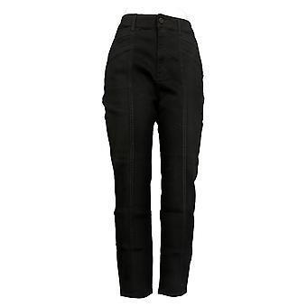سوزان غريفر المرأة و apos;s الجينز العادية تمتد الدنيم سليم الساق الأسود A387871