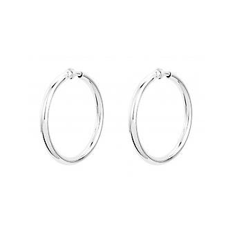 Traveller Clip Hoop Earrings Rhodium Plated ø 45mm - 155053 - 422