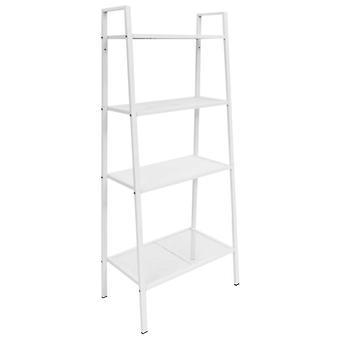 vidaXL Ladder Boekenplank 4 Niveaus Metaal Wit