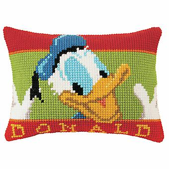 Kit cuscino vervaco con punto croce: Disney: Paperino