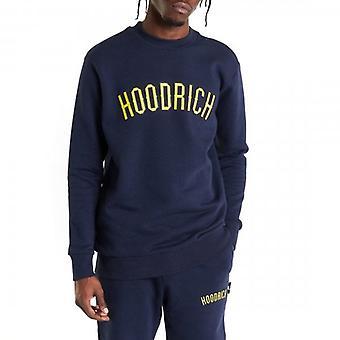 Hoodrich OG Cali Logo Crew Neck Sweatshirt Navy/Yellow