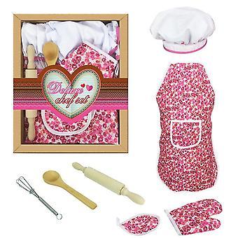 Kitchen toy girl set baking tool apron