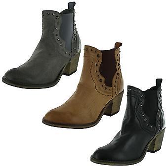 Steve Madden Womens Concrete Zip Western Ankle Boot Shoe