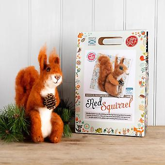 Red Squirrel Needle Felting Kit For Improvers