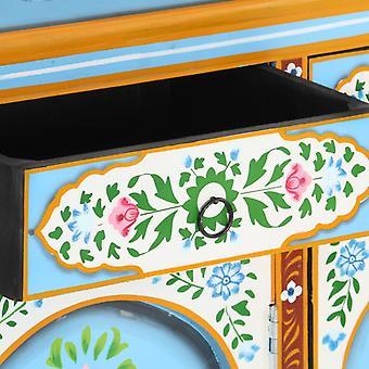 vidaXL Dressoir Handgeschilderd 120x35x76 cm Mango Massief Hout
