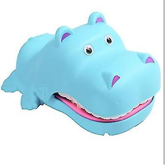 Without light and sound blue hand-bite hippo parent-child interaction electric bite hippo teeth extraction children's tricky toy az5330