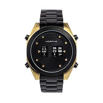 Morphic M76 Series Drum-Roll Bracelet Watch - Black/Gold