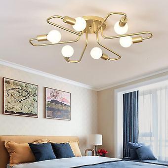 72CM Elbow Ceiling Light 220VLED E27 6 Heads Gold