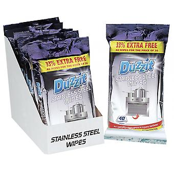 Duzzit Stainless Steel Wipes