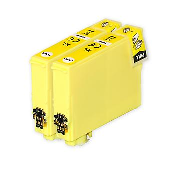 2 cartouches d'encre jaune pour remplacer Epson T1634 (série 16XL) Compatible/non-OEM de Go Inks