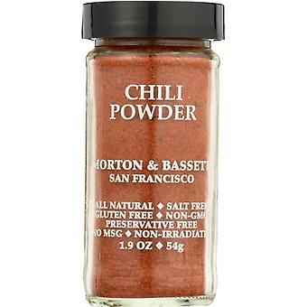 Morton & Bassett Chili Pwdr, Case of 3 X 1.9 Oz