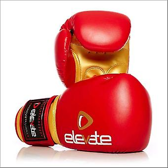 Elevate pu boxing gloves - red gold