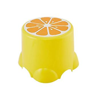 Cute Low Stool Creative Fruit Pattern Thickened Children Chairs Footstool Bathroom Bath Chair Living