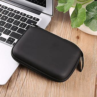 """Black Hard Nylon Carry Bag Compartments Case Cover For 2.5"""" Hdd Hard Disk"""