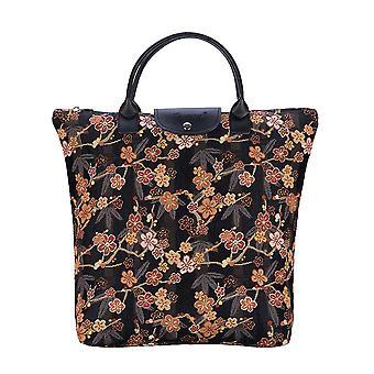 أومي ساكورا أكياس التسوق foldaway | حقيبة حمل قابلة للطي | fdaw ساكورا
