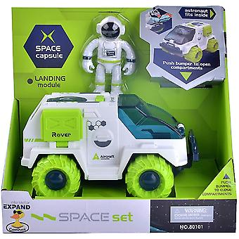 Space Rover Toys For Kids With Push And Go Friction Powered Vehicles