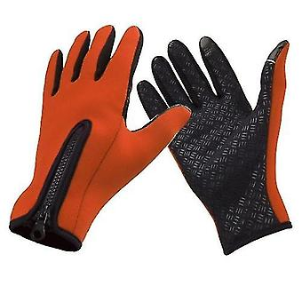 Bicycle bike gloves outdoor windproof winter thermal warm touch screen silicone gloves
