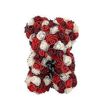 Подарок на день святого Валентина 25 см роза медведь день рождения подарок £? день памяти подарок плюшевый мишка(Красный 1#)