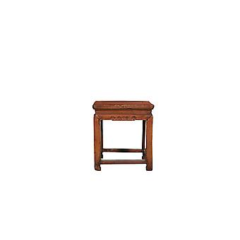 Fine Asianliving Antique Chinese Stool W43xD43xH48cm