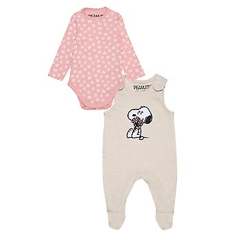 Peanuts Snoopy Sending Some Love Baby Girls Romper Set   Marchandises officielles
